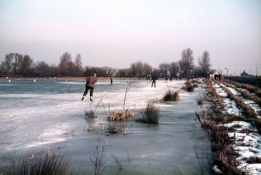 Skating on Baston Fen, Winter 1968\69